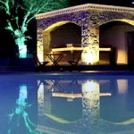 Grounds at Night| Green Park Village Apartments | Akbuk, Didima